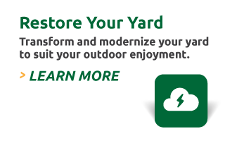 Restore Your Yard: Transform and modernize your yard to suit your outdoor enjoyment. Learn More