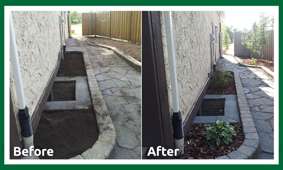 before and after landscaping and yard restoration
